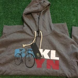 Jackets & Coats - Brooklyn bike hoodie. Medium slim men's.NWT